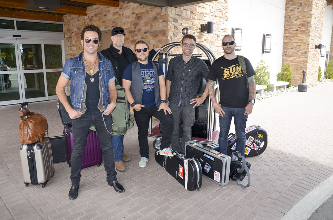 The Boom Chaka Boys arrive at the Manitoulin Hotel and Conference Centre before their gig. The talented quintet may defy the conventional pigeonhole, but are easily described...they're great!