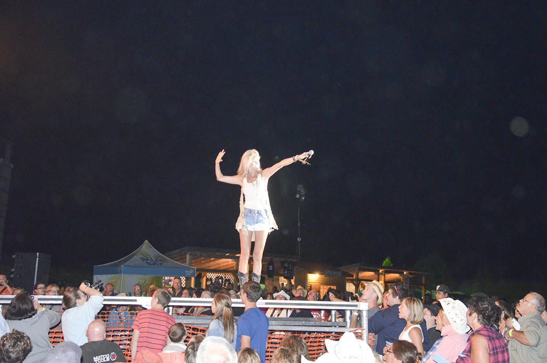 Entertainer Beverly Mahood kept the crowd pumped both as one of the main acts and as an emcee throughout the weekend.
