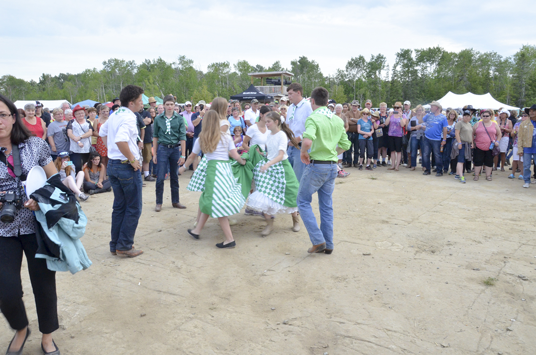 Young square dancers entertain the crowds between act changes at the Flatrock Entertainment fairgrounds.