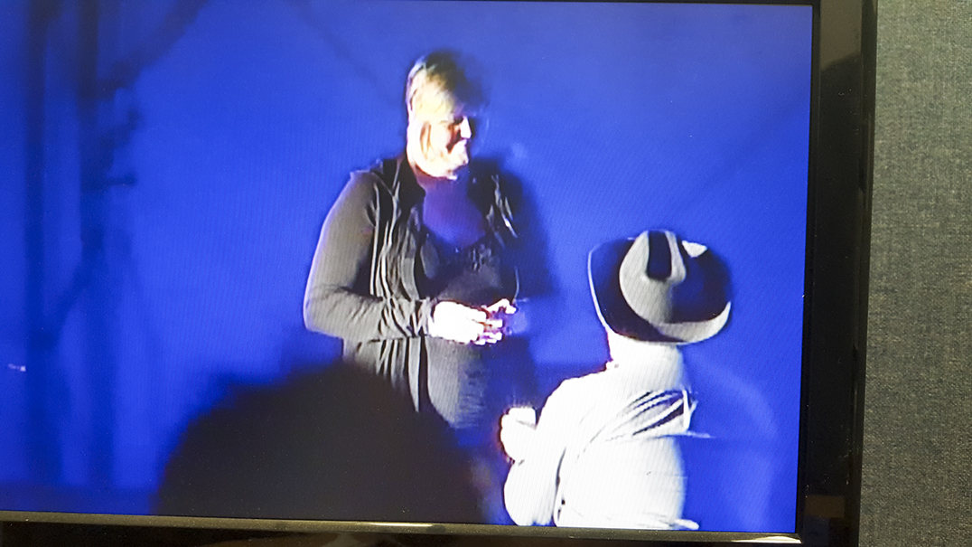 Ron Fisher proposes to his sweetheart Tracey Urquhart. The proposal took place on stage during entertainer Johnny Reid's rendition of 'A Woman Like You.' Ms. Urquhart said yes to the enthusiastic approval of the audience. photos courtesy of Wiky TV5