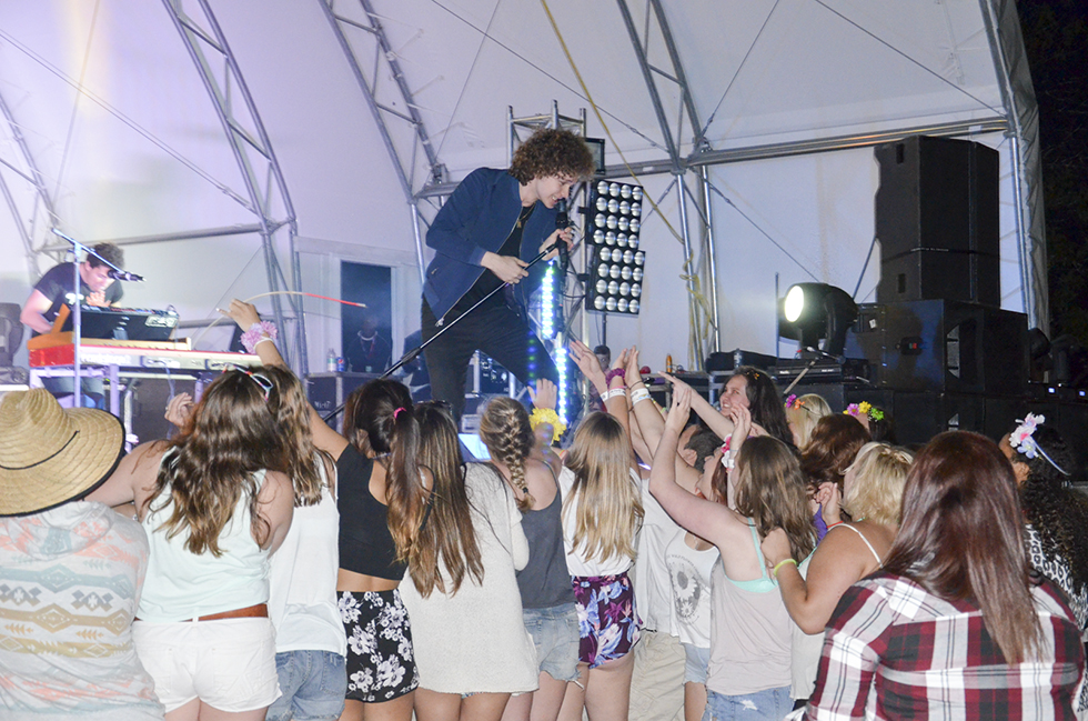 Toronto heart throb Francesco Yates brought it on like the coliseum for his young fans. His talent deserved a bigger crowd, but the  19-year-old's performance was professional and ready for the centre stage. photos by Michael Erskine