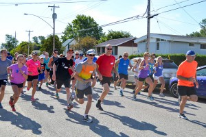 The Haw Run was busy Saturday morning with 20 runners in the 10K run, over 50 for the 5K run and 27 for the 1K run/walk.