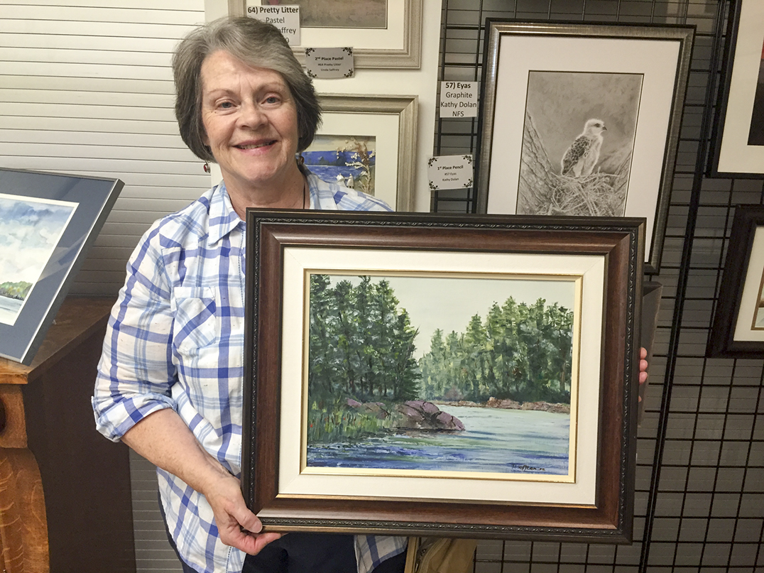 Pauline Tofflemire took first place in the Oil category for her piece 'Round the Bend.' photos by Alicia McCutcheon