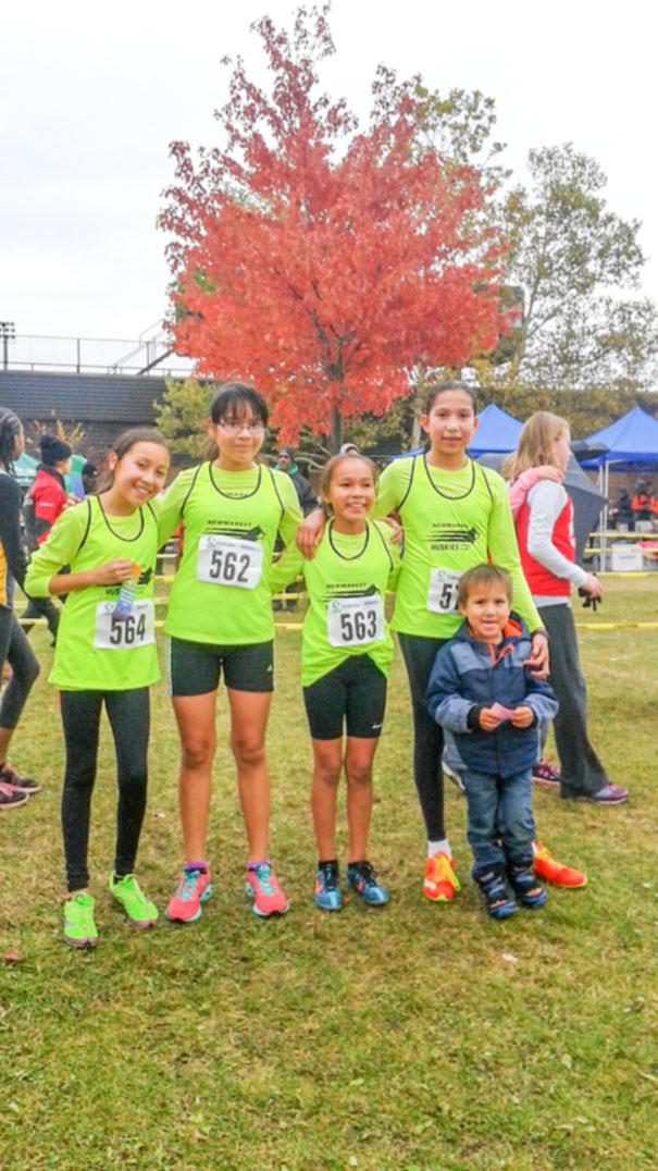 From left is Francesca Pheasant, Sierra Pangowish, Autumn Peltier and Victoria Trudeau.