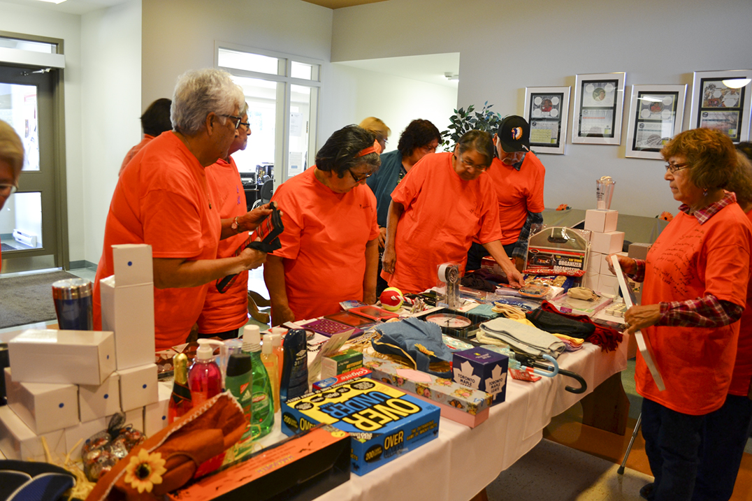Survivors were invited to choose a take-home gift at the end of the celebration event.