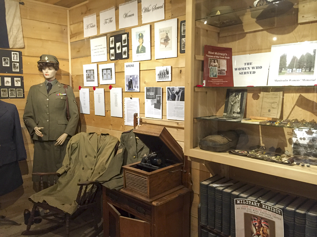 This display honours women who served in the forces. photos by Robin Burridge