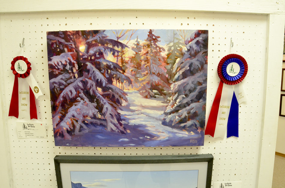 Best of Show this year went to Karin Fediw for her painting 'Through the Trees Pein Aire.'