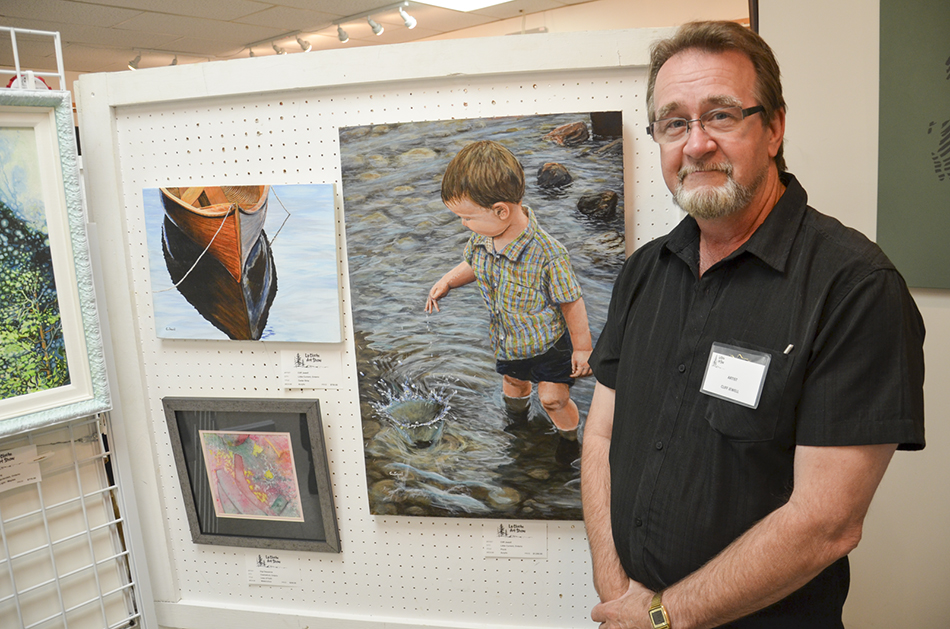 LaCloche Cliff Jewell with two of his works