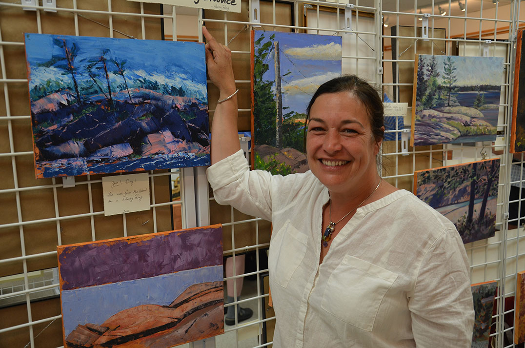 Artist Wendy Peng displayed artworks she produced over the course of her four years attending the LaCloche Art School. Her display was entitled 'The Art of the Novice.'