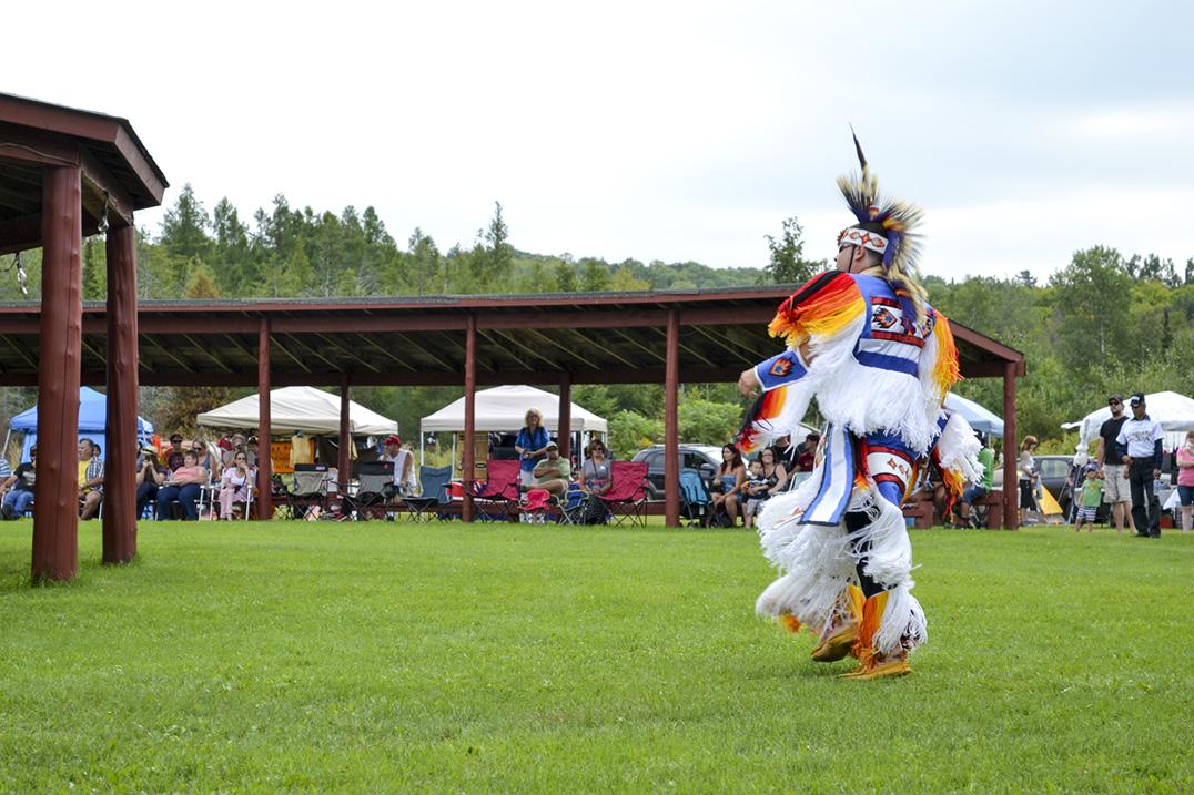 M'Chigeeng powwow dancer