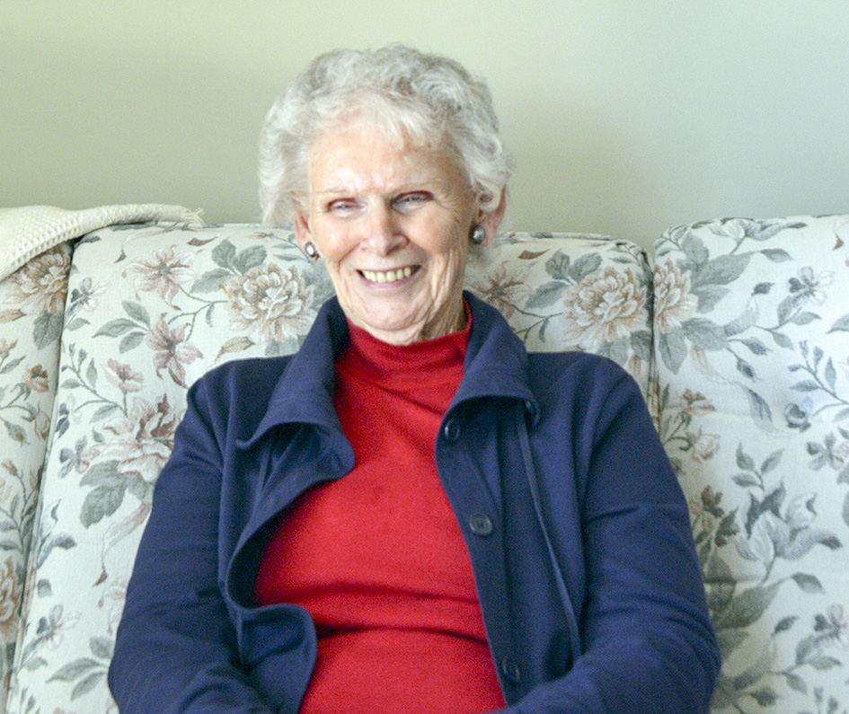 Jean at home in April 2015.