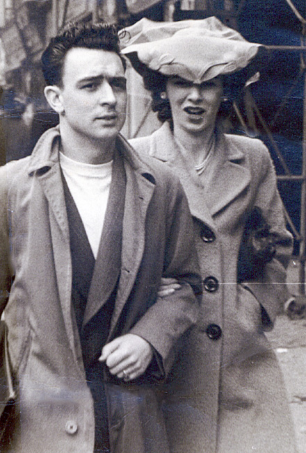 A dapper Don and Jean wearing her new hat on Easter Sunday in the 1940s.