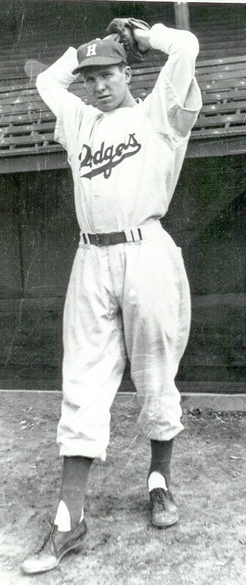 Murray McDermid with the Brooklyn Dodgers.