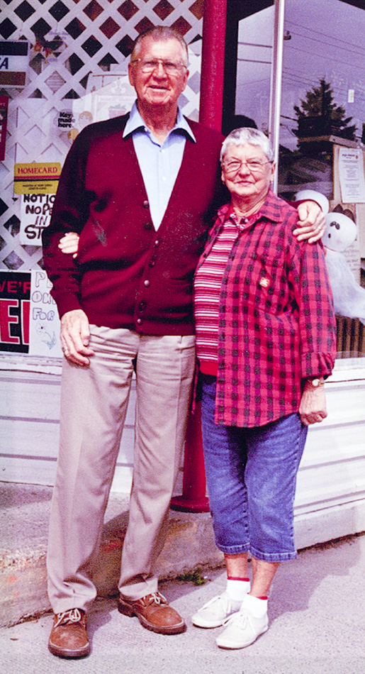 Murray and 'Toots' McDermid in a photo taken around the time of his retirement.