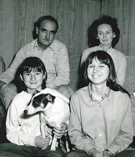 The family at their cottage in 1968, about the time of the kidnapping.