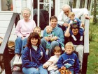 NT With their daughters and grandchildren at the cottage