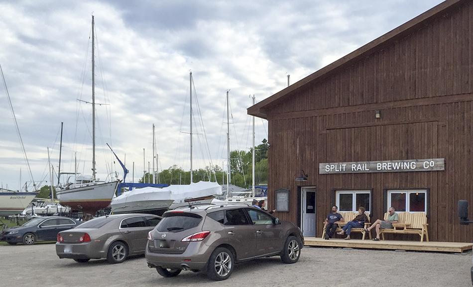 SR building,sign, boats