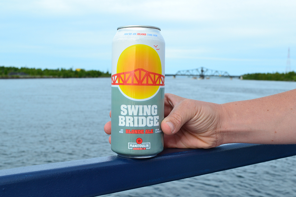 The new brew features the image of the Manitoulin Swing Bridge and is  available at licenced establishments across the Island.