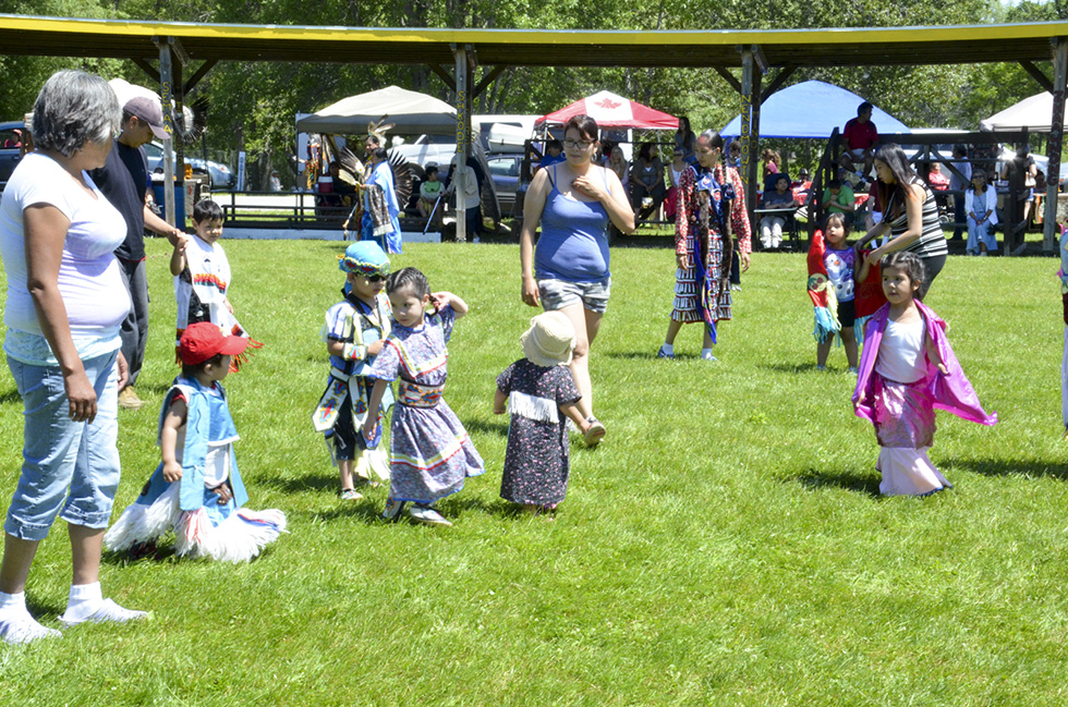 The tiny tots were a crowd favourite at the powwow.