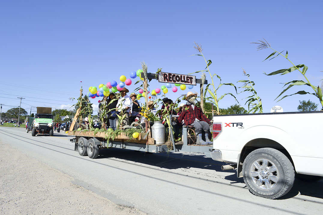 John Recollet's float won first place in the parade.