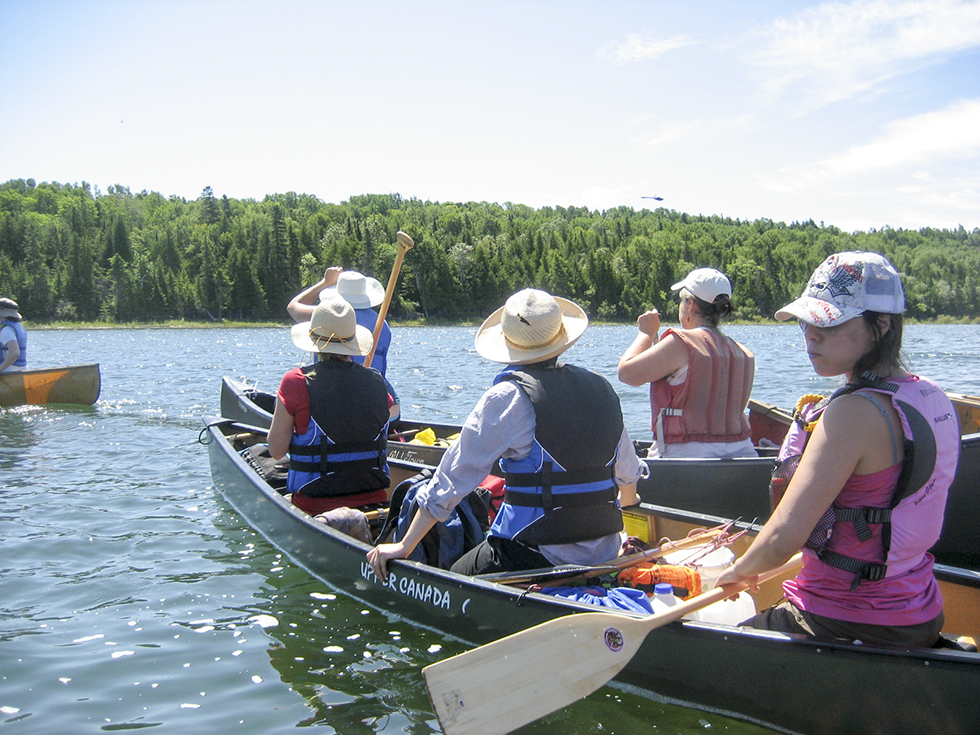 Proper equipment and safety procedures are an integral part of the exploration and team building in the Paddle Lab social laboratory.