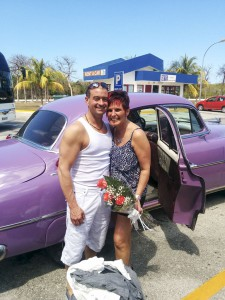 Sunwing Airlines arranged a car to pick Mark and Linda up from the airport and whisk them away to their resort.
